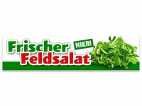 Aufkleber FRISCHER FELDSALAT - HIER! Werbung