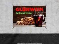 PVC-Banner GLÜHWEIN HEIß UND LECKER Werbung verschiedene Formate