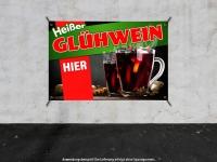 PVC-Banner HEIßER GLÜHWEIN HIER Werbung verschiedene Formate