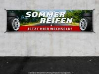 PVC-Banner REIFENSERVICE SOMMERREIFEN - JETZT HIER WECHSELN