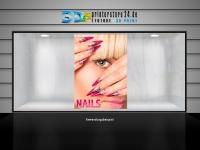 Aufkleber NAILS Nagelstudio Werbung spitze Fingernägel verschiedene Din-Formate