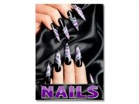 Aufkleber NAILS Nagelstudio Werbung black Nails verschiedene Din-Formate