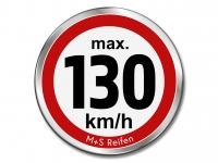 12 Stück Geschwindigkeitsaufkleber für M+S WINTERREIFEN - max. 130 km/h - Ø 30 mm