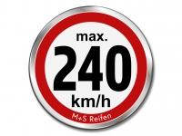 12 Stück Geschwindigkeitsaufkleber für M+S WINTERREIFEN - max. 240 km/h - Ø 30 mm