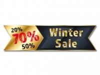 Aufkleber, Aktion, SSV, WSV, Winter Sale Rabatt, 150 x 40,2 cm goldgelb/schwarz