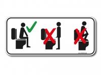 Aufkleber/Sticker - HINSETZEN - nicht im stehen urinieren - Toilette benutzen
