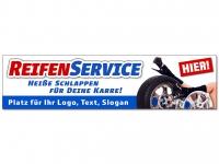 Aufkleber REIFENSERVICE - heiße Schlappen personalisiert mit Ihrem Wunschtext