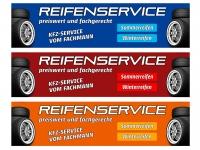 Aufkleber REIFENSERVICE - preiswert & fachgerecht - Sommerreifen - Winterreifen