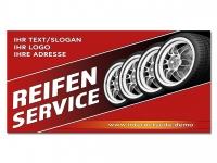 Aufkleber REIFENSERVICE mit Ihrem Wunschtext und Logo bedruckt