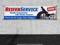 PVC-Banner REIFENSERVICE heiße Schlappen... personalisiert mit Ihrem Wunschtext
