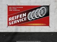 PVC-Banner REIFENSERVICE mit Ihrem Wunschtext und Logo bedruckt