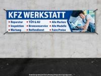 PVC-Banner KFZ WERKSTATT - Wunschtext möglich! Autoreparatur