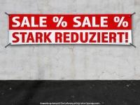 PVC-Banner SALE STARK REDUZIERT Prozente Spanntransparent