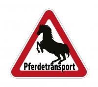 Aufkleber PFERDETRANSPORT für Pkw, Pferdeanhänger, Transporter 32 x 28,5 cm