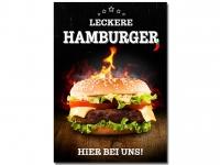 Aufkleber LECKERE HAMBURGER Werbung verschiedene Din-Formate