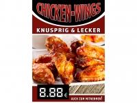 Aufkleber CHICKEN WINGS Werbung verschiedene Din-Formate