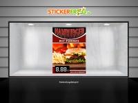 Plakat HAMBURGER MIT POMMES Werbung verschiedene Din-Formate