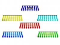 Wandaufkleber MARKISE mehrfarbig - mit oder ohne Wunschname